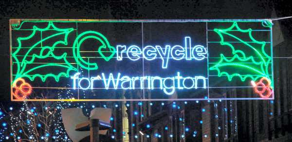 Xmas lights in Warrington