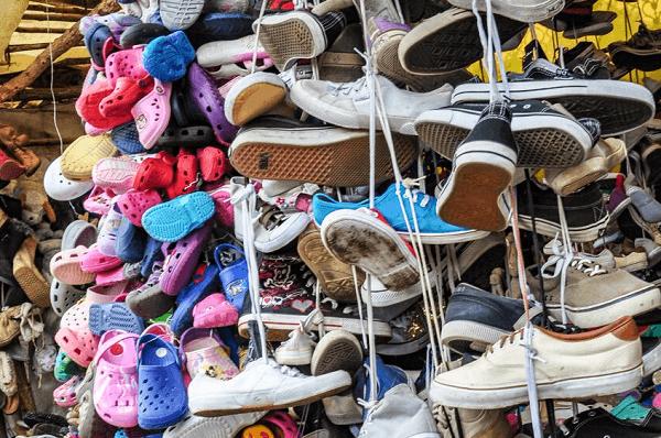 Shoes, Mitumba Stall, Kenya