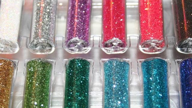 Glitter vials