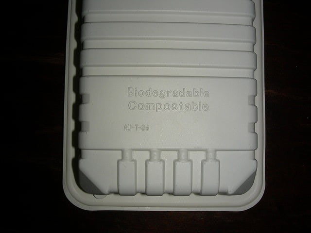 Compostable tray